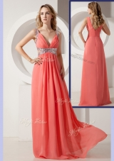 2016 Elegant Empire Straps Sequins Long Prom Dresses