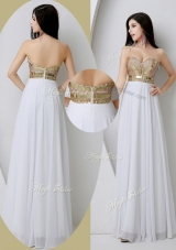 Fashionable Sweetheart White  Bridesmaid Dresses with Beading and Sequins