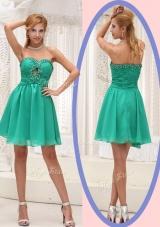 Perfect Sweetheart Beading Short Bridesmaid Dress for 2016