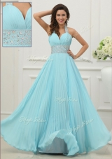 2016 Fashionable Halter Top Dama Dress with Beading and Paillette
