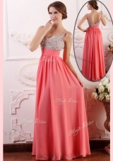 2016 Lovely  Empire Straps Watermelon Prom Dress for Celebrity