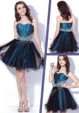 2016 Lovely Sweetheart Beading Short Bridesmaid Dresses for Homecoming