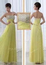 2016 Low Price Sweetheart Floor Length Beading Dama Dress for Graduation