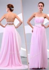 2016 Sweet Empire Brush Train Beading Dama Dress