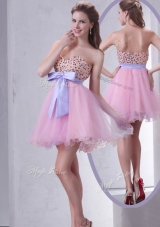 Lovely Sweetheart Beading Pink Short Prom Dress for Cocktail