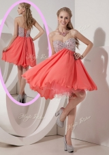 Lovely Sweetheart Mini Length Beading Prom Dress for Homecoming