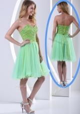 2016 Lovely Sweetheart Beading Short Prom Dresses for Party