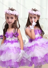 Perfect Short Little Girl Pageant Dresses with Appliques and Ruffled Layers