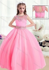 Sweet Ball Gown Cap Sleeves Mini Quinceanera Dresses with Beading