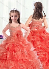 Fashionable Straps Mini Quinceanera Dresses with Beading and Ruffles