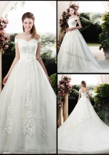 2016 Beautiful A Line Off the Shoulder Wedding Dresses with Appliques