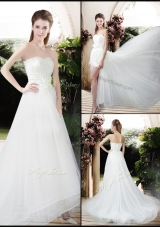 Empire Sweetheart Wedding Dresses with Brush Train for 2016