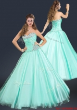 2016 Perfect Sweetheart Beading Prom Dress in Apple Green