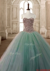 Best Beaded Bodice Apple Green Quinceanera Dress with Sweetheart