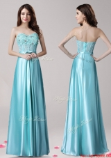 New Arrivals Beaded and Bowknot Prom Dress in Aqua Blue