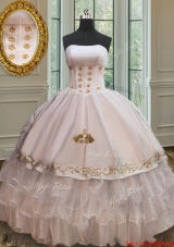 New Embroideried and Ruffled Layers Quinceanera Dress in Organza and Taffeta