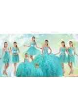 Luxurious Beaded Bodice Quinceanera Dress and Latest Visible Boning Mini Quinceanera Dress and Popular Aqua Blue Dama Dresses