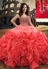 2017 Western Style Popular Ball Gown Sweetheart Beaded Quinceanera Dress in Rolling Flowers
