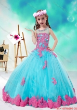 Cheap Scoop Multi Color Flower Girl Dresses with Appliques