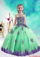 Sweet Multi Color Flower Girl Dresses with Appliques and Beading