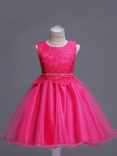 Custom Fit Sleeveless Lace Zipper Girls Pageant Dresses
