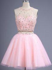 Best Selling Sleeveless Beading Lace Up Bridesmaid Dresses