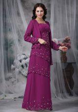 Chiffon Sleeveless Floor Length Mother of Bride Dresses and Beading
