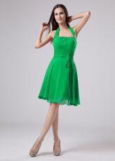 Fitting Green Chiffon Zipper Mother of Groom Dress Short Sleeves Knee Length Ruching