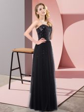 Tulle Sleeveless Floor Length Party Dress Wholesale and Sequins