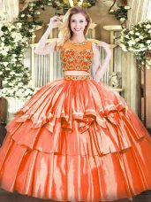 Romantic Sleeveless Beading and Ruffled Layers Zipper Sweet 16 Dresses
