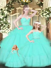 Floor Length Apple Green Quinceanera Dress Sweetheart Sleeveless Zipper