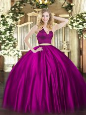 Best Halter Top Sleeveless Satin Quinceanera Gown Ruching Zipper