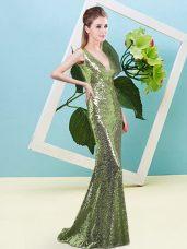 Nice V-neck Zipper Sequins Homecoming Dress Sleeveless