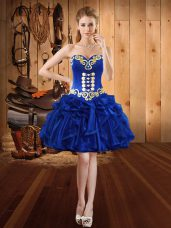 Perfect Mini Length Ball Gowns Sleeveless Royal Blue Lace Up