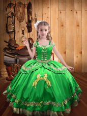 Straps Sleeveless Lace Up Pageant Dress for Teens Satin