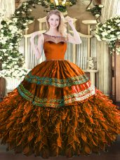 Sleeveless Zipper Floor Length Beading and Appliques and Ruffles Quinceanera Dress