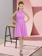 Sleeveless Knee Length Sequins Zipper Wedding Guest Dresses with Lilac