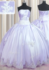 Floor Length Ball Gowns Sleeveless Lavender Sweet 16 Dress Lace Up