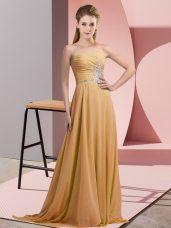 Edgy Sleeveless Beading Lace Up Prom Dresses