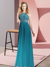 Fashionable Sleeveless Beading Backless Womens Evening Dresses