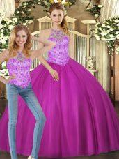 Delicate Sleeveless Beading Lace Up Vestidos de Quinceanera