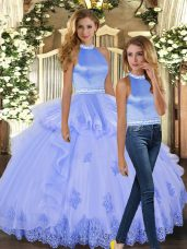 Stylish Sleeveless Backless Floor Length Beading and Appliques 15 Quinceanera Dress