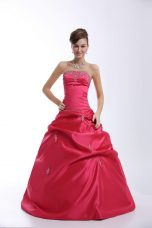 Traditional Sweetheart Sleeveless Taffeta Sweet 16 Dresses Appliques Lace Up