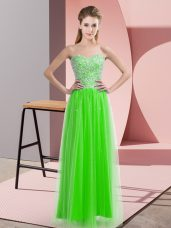 Great Empire Dress for Prom Sweetheart Tulle Sleeveless Floor Length Lace Up