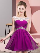 Discount Sleeveless Beading and Ruching Backless