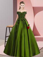 High Class Lace Quinceanera Gown Olive Green Zipper Sleeveless Floor Length