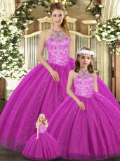 Pretty Sleeveless Lace Up Floor Length Beading Quinceanera Dress