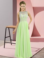 Custom Made Beading Prom Dress Zipper Sleeveless Floor Length