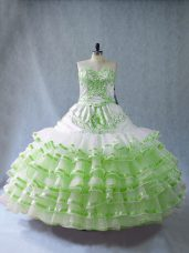 Inexpensive Floor Length Vestidos de Quinceanera Sweetheart Sleeveless Lace Up