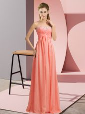 Fancy Sleeveless Beading Lace Up Womens Party Dresses